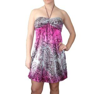 Windsor Paisley Strapless Cocktail Party Dress